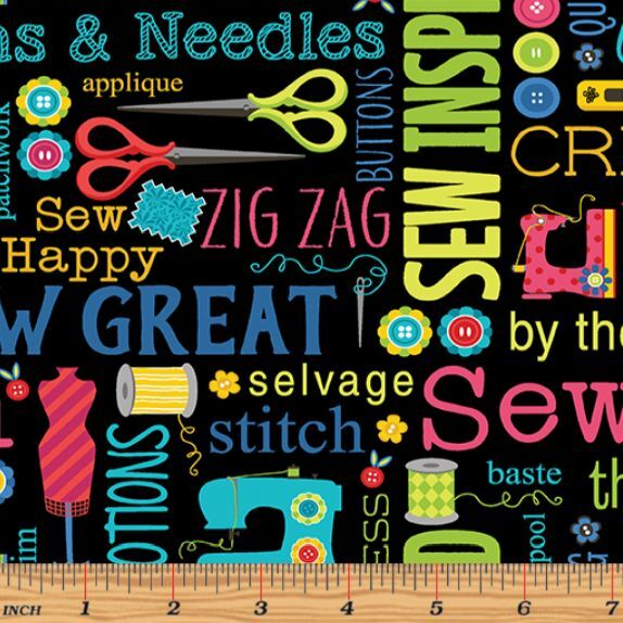 Sew Excited By Andi Metz Novelty Sewing Fabric