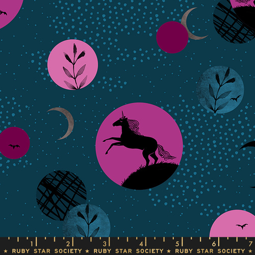 Ruby Star Society Crescent Horse Silhouettes Teal