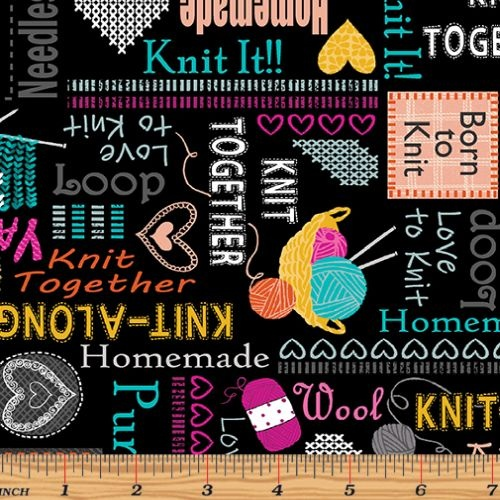 Knit Together Words to Knit Black