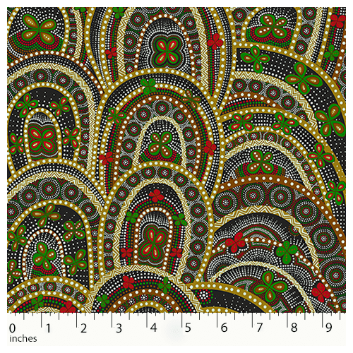 Australian Aboriginal Design Rebirth Butterfly Spirits Green