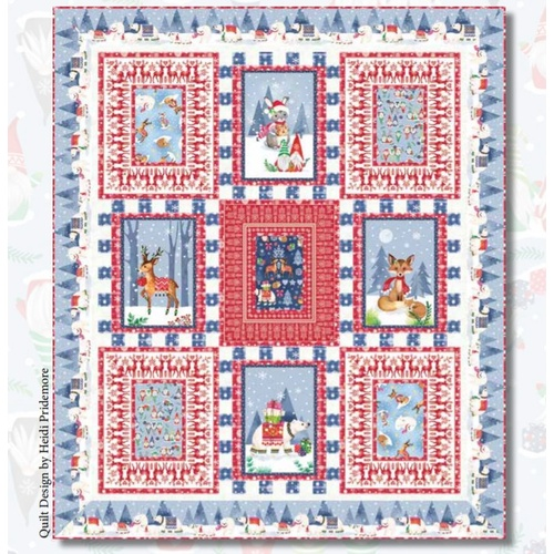 Nordic Forest Christmas Quilt Kit #1