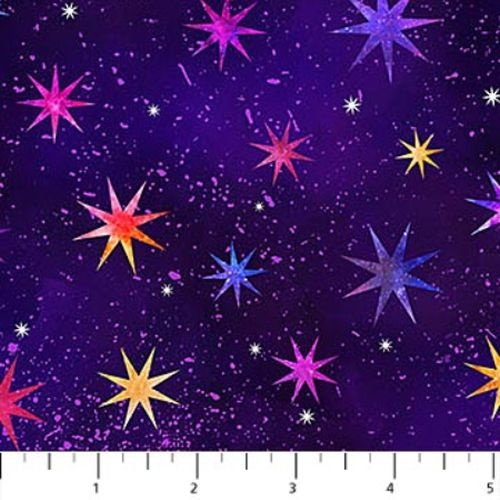 Cosmic Universe Digital Stars Multi Purple