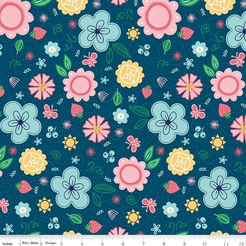 Flutter and Shine Main Floral Navy