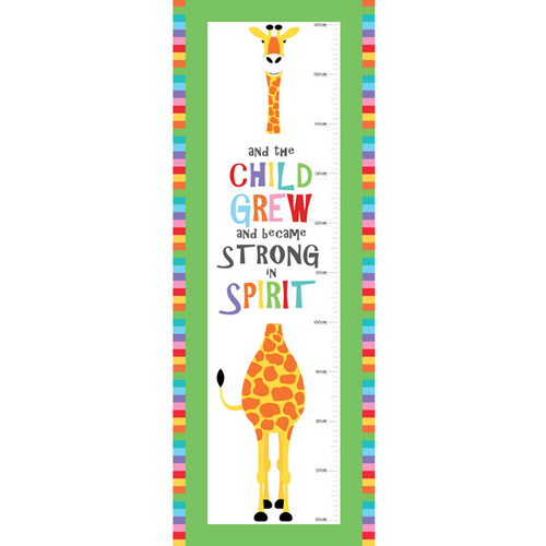 Devonstone Safari Animal Growth Chart Panel