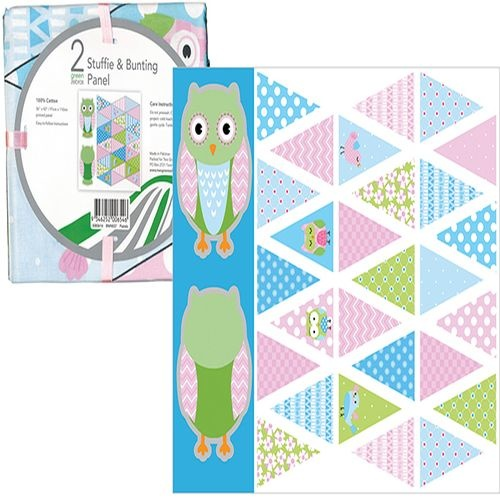 Owl Stuffie and Bunting Panel