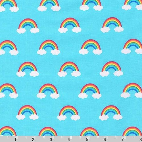 Happy Little Unicorns Rainbows Blue