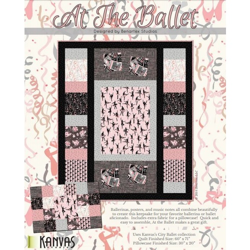 At the Ballet Quilt and Pillow Kit