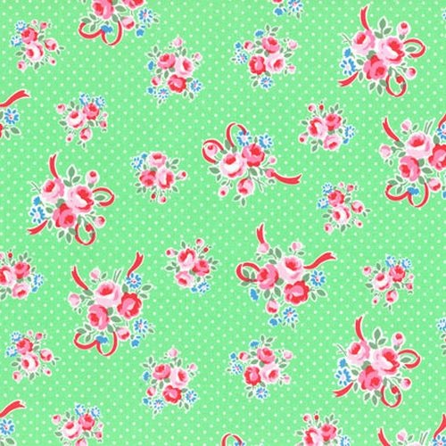 Flower Sugar Rose Ribbon Green