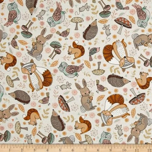 Doodle Days Woodland Animal Scatter Cream