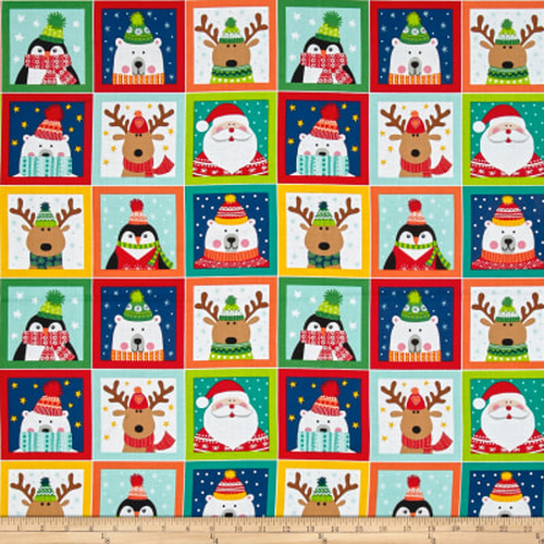 Novelty Christmas Blocks Panel