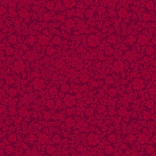 Remnant - Floral Ruby Red 63cm