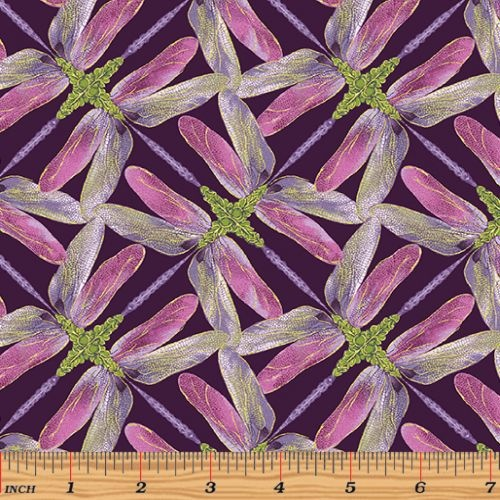 Dance of Dragonfly Pinwheel Geo Plum