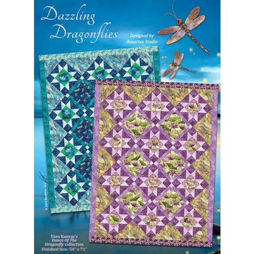Dance of Dragonfly Quilt Kit Purple