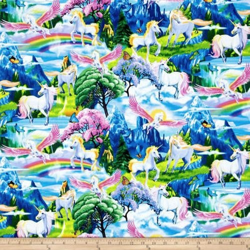 Majestic Unicorns and Rainbows Garden Multi