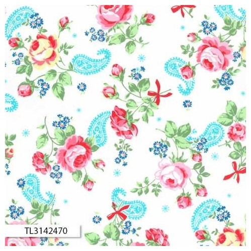 Flower Sugar 2017 Rose Paisley Blue White