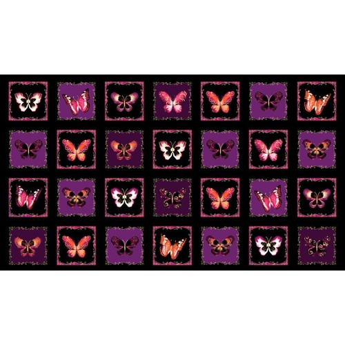 Butterfly Jewel Boxes Berry Panel