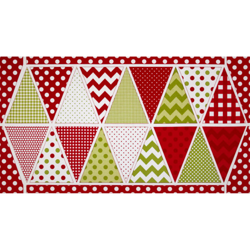 Holiday Bunting Panel Christmas