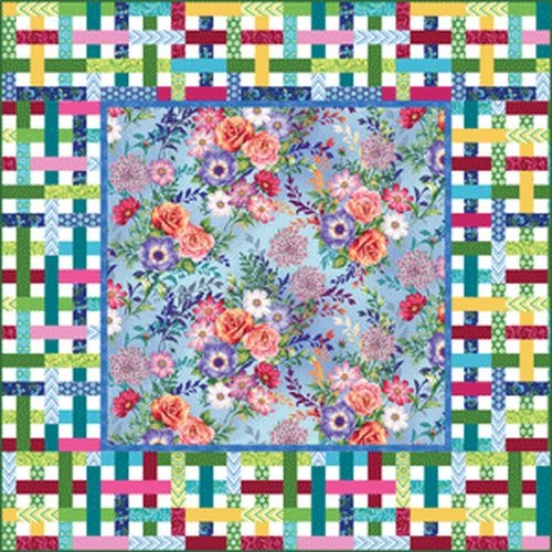 Botanic Blooms Quilt Kit Light