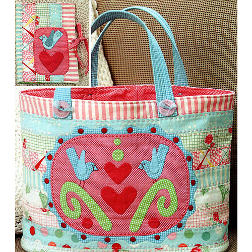 Three Sweet Bluebirds Bag Pattern