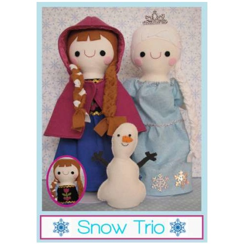 Frozen Snow Trio Softies Pattern
