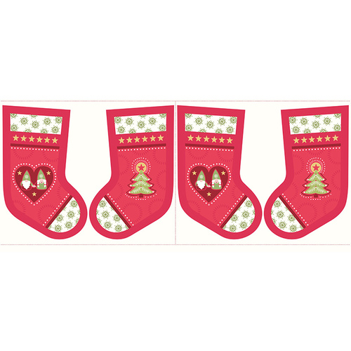Hygge Christmas Stocking Panel