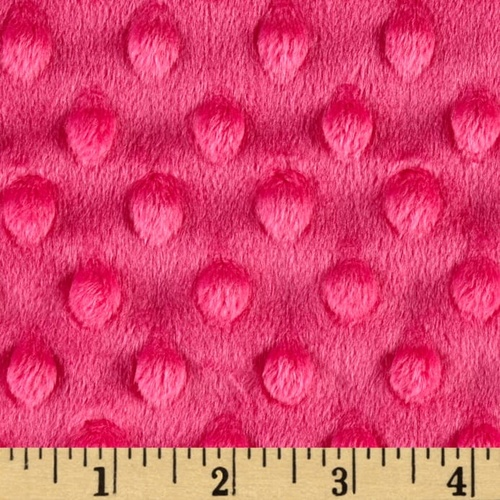 Embossed Dimple Dot Minky Fuchsia