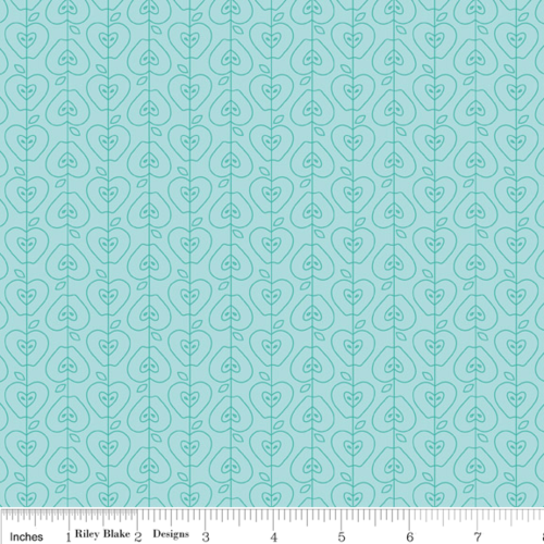 Apple of My Eye Stripe Blue Per Metre