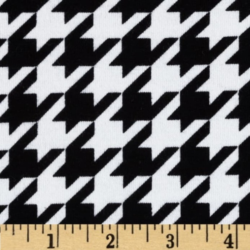 Medium Houndstooth Black Knit