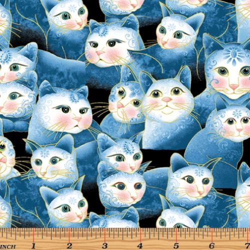 Cat-i-tude 2 Sweetheart Cats Blue