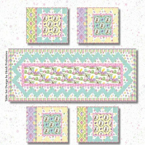 Hoppy Easter Table Runner Placemats Kit
