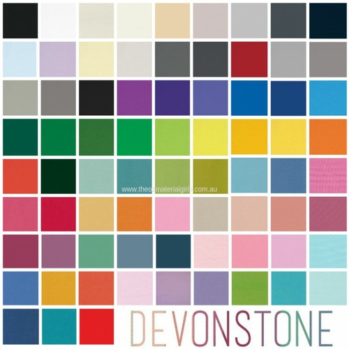 Devonstone Solids 1/2m Bundle - 85 Colours