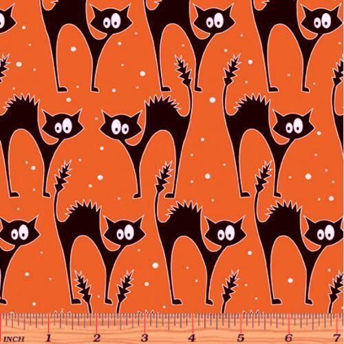 Faboolous Fun Spooky Glow Cats Orange