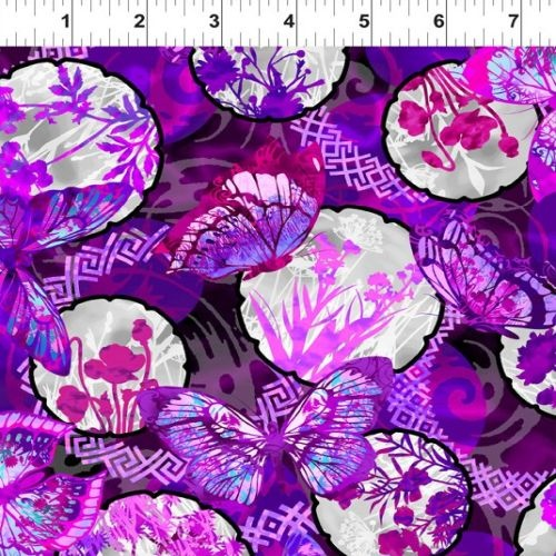 Dreamscapes II Butterfly Collage Purple