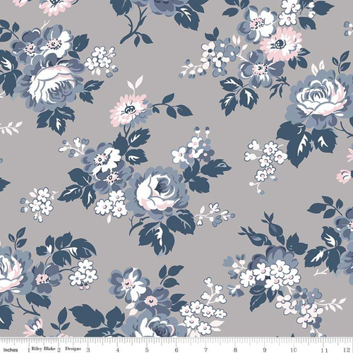 Majestic Main Floral Grey