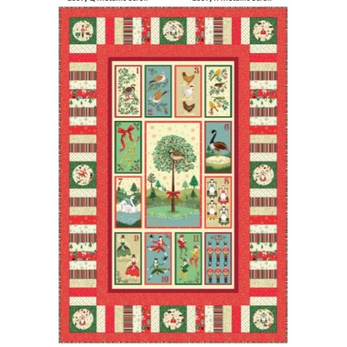 12 Days of Christmas Quilt Kit