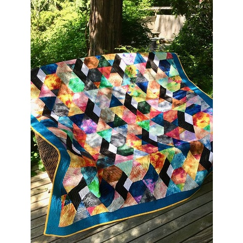 Sunny Splash Stained Glass Quilt Kit