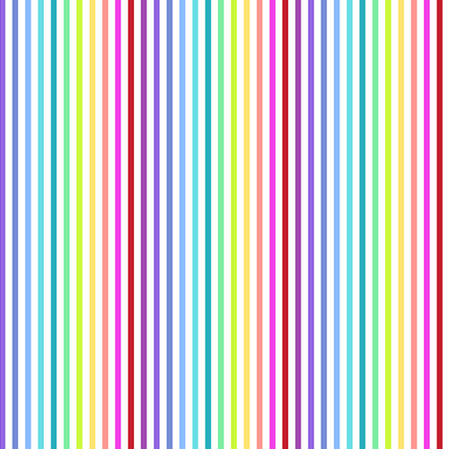 Rainbow Sprinkles Stripes White 9427-L