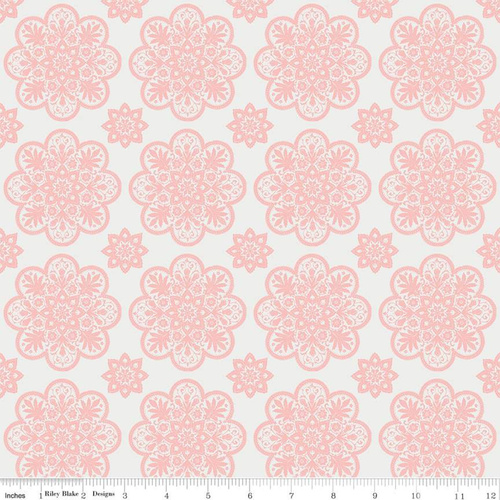 A Little Bit of Sparkle Tile Floral White
