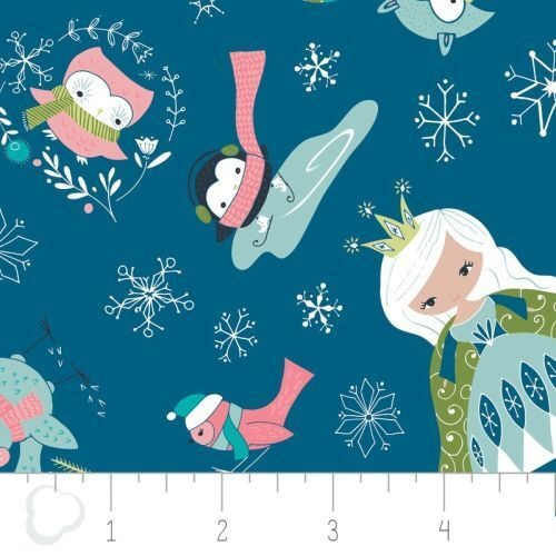 Fabric Remnant -Winter Wonderland Ice Princess 96cm