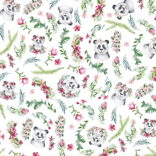 Tropical Zoo Panda Floral Allover DV3193