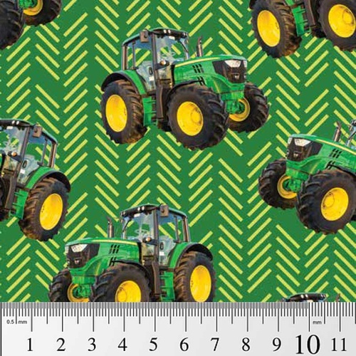 Farm Machines Tractor Stripe Green 7105 J