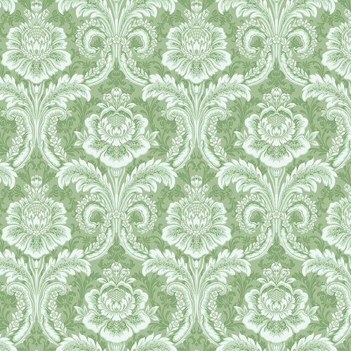 Anna Griffin Plume Feather Damask Green CF3402-2