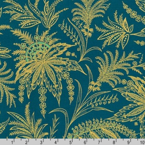 Treasures of Alexandria Egyptian Floral Teal 18848-213
