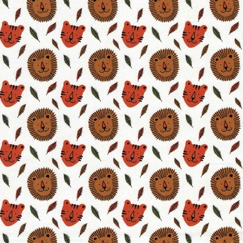 Jolly Jungle Tigers and Lion Faces 9097B