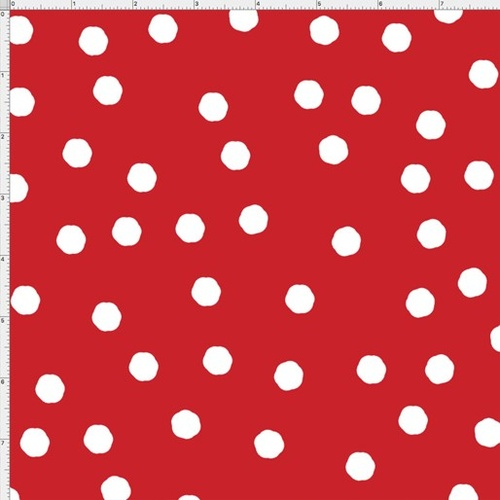 Loralie Happy Campers Dots Red 9124/282