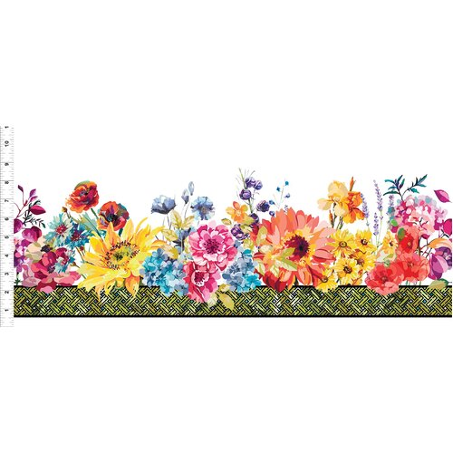 Hummingbird Lane Floral Border 3HL-1