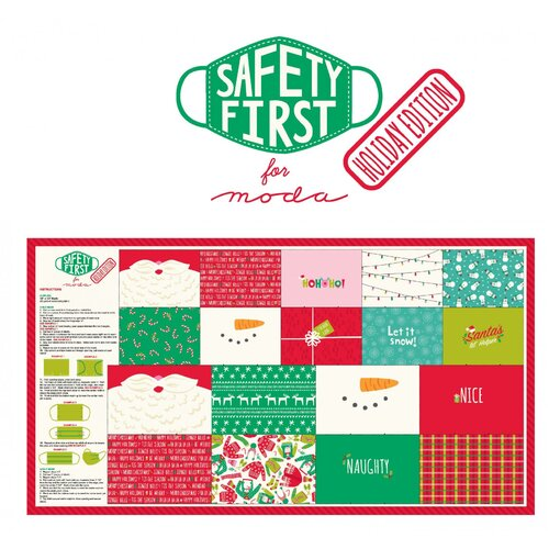 Safety First Moda Christmas Face Mask Panel