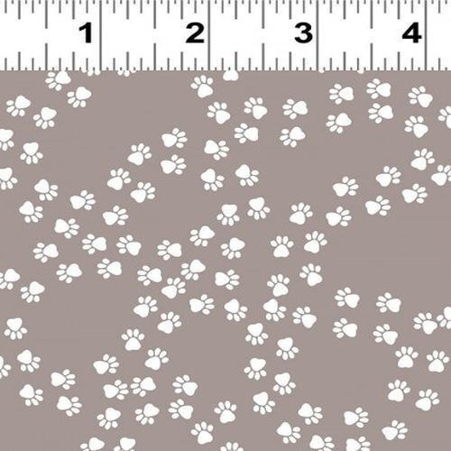 Fabric Remnant-Playful Pups Paw Prints 58cm