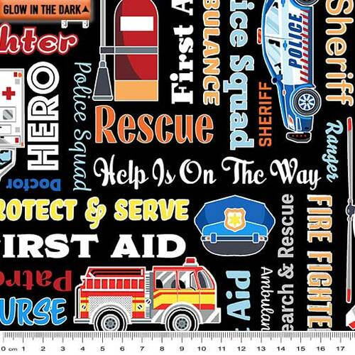 Save the Day Glow First Responders Words 9739GL-12