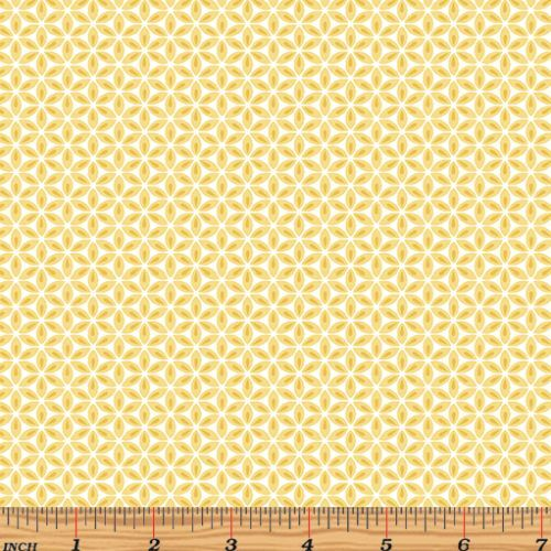Words to Quilt By Geo Flowers Yellow 6978-31